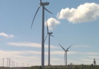 Vestas 3MW wind turbines located at the 30 MW wind project at Fermeuse, Newfoundland. Created by 3G in 2006.