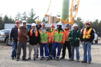 Happy faces at M'Chigeeng First Nation – 4MW wind farm completed by 3G in 2012. Project is 100% owned by the M'Chigeeng First Nation.