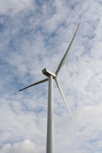 Vensys 1.2 MW Direct Drive wind turbine installed at Springhill, Nova Scotia in 2005