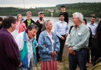 Happy faces at M'Chigeeng First Nation – in the company of the legendary David Suzuki who presided at inauguration. 4MW wind farm completed by 3G in 2012. Project is 100% owned by the M'Chigeeng First Nation.