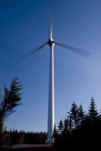 """Big Wind"" - Vensys 1.2 MW wind turbine, named by the students of Wentworth Consolidated Elementary School in 2007. Located on Higgins Mountain, Wentworh, NS"